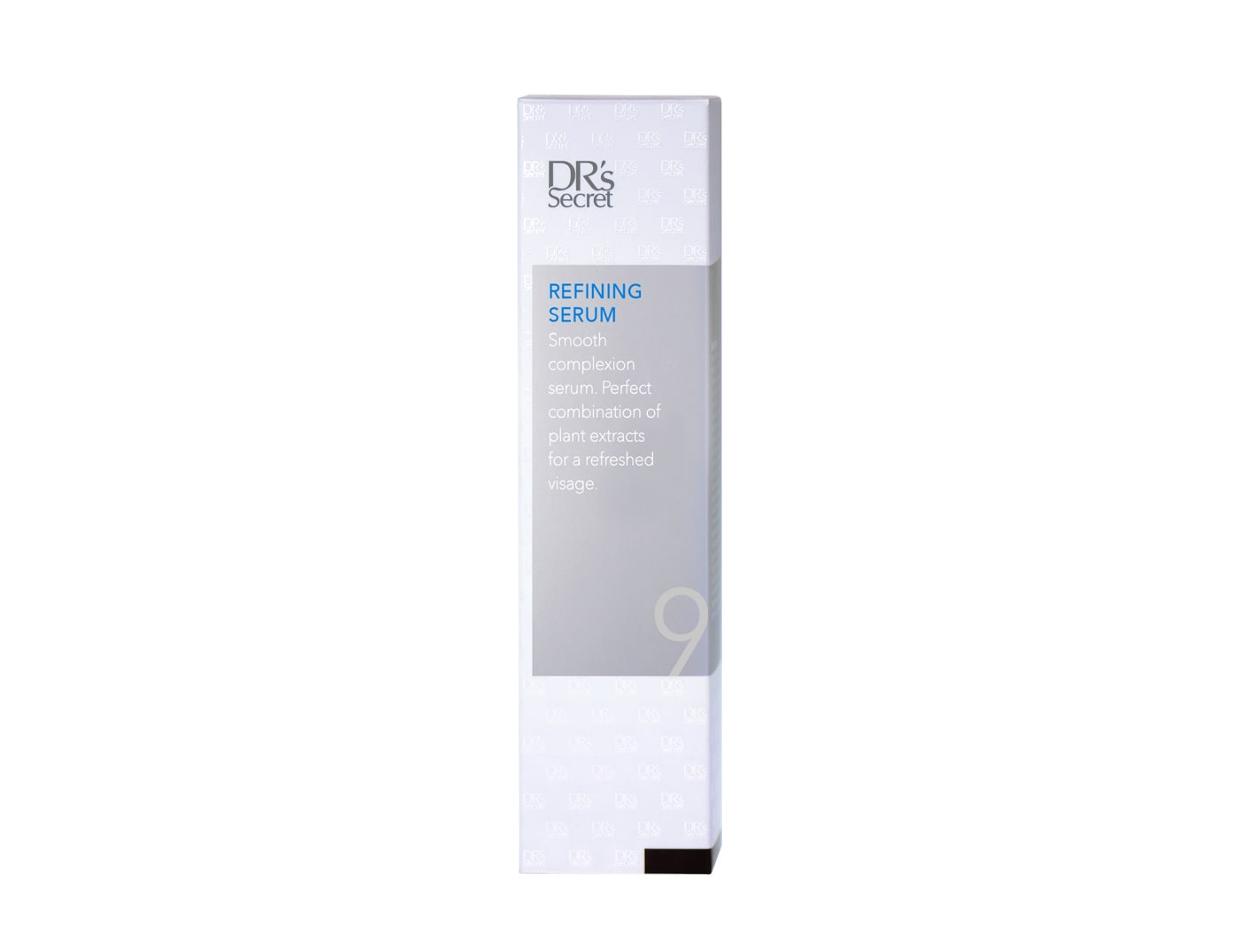 DR's Secret Refining Serum 9 box front packaging