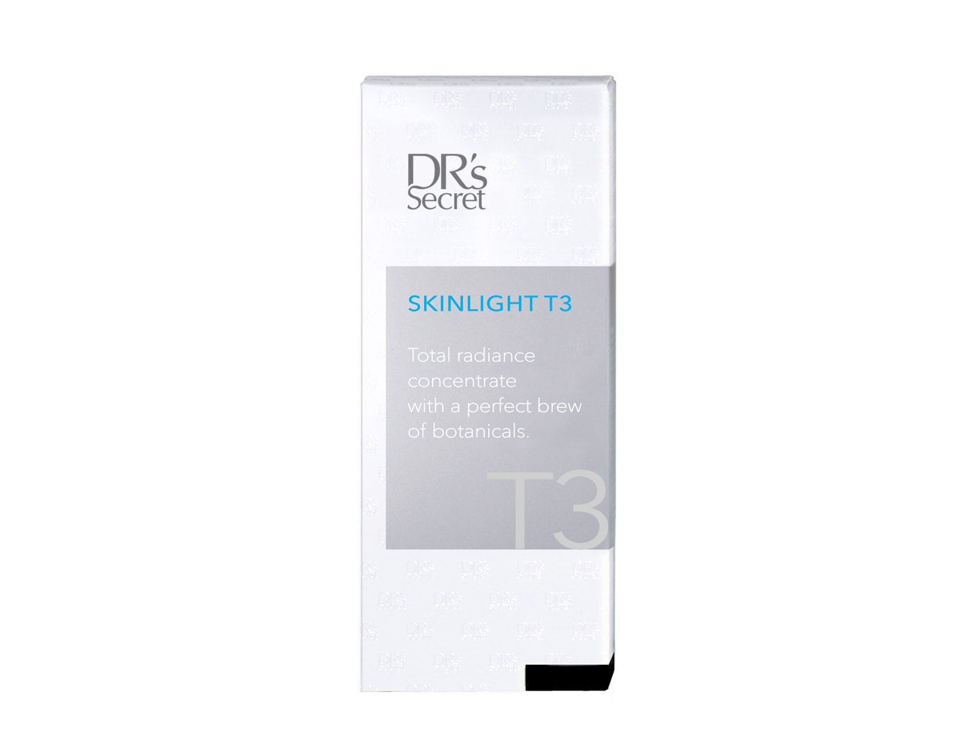 DR's Secret Skinlight T3 box front packaging