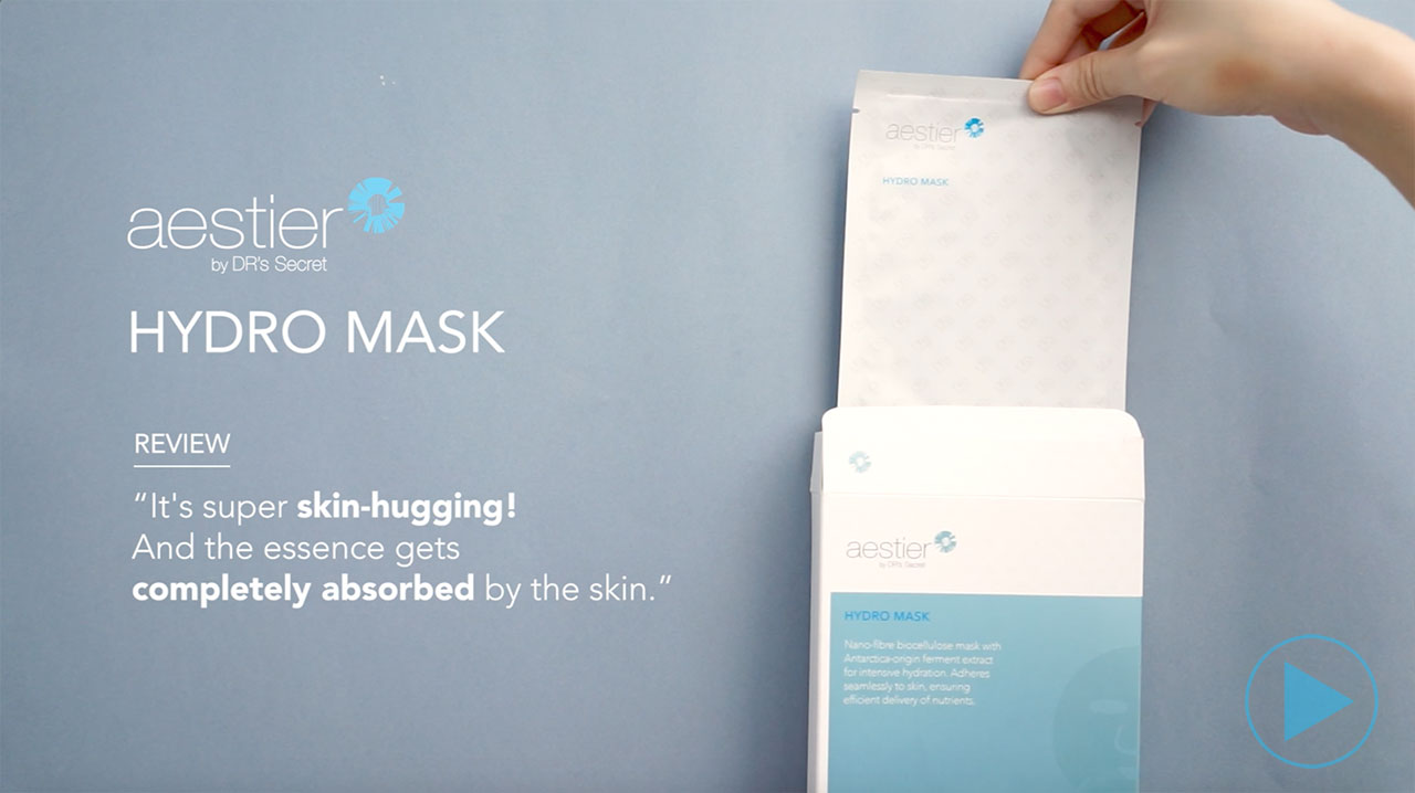 Water-ful skin in just 20 minutes - Aestier Hydro Mask