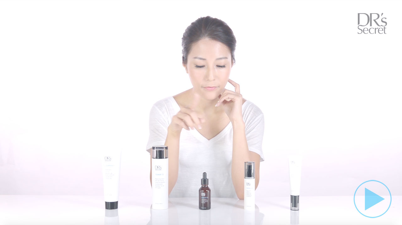 Tutorial: How to use the DR's Secret basic collection in your skin care regime