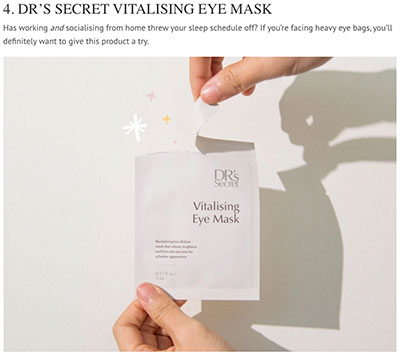Daily Vanity Review Vitalising Eye Mask